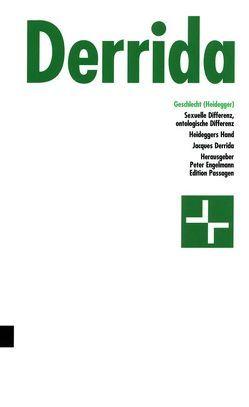 Geschlecht (Heidegger) von Derrida,  Jacques, Engelmann,  Peter, Gondek,  Hans-Dieter