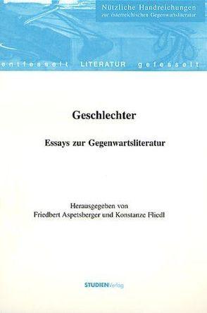 Geschlechter von Aspetsberger,  Friedrich, Fliedl,  Konstanze