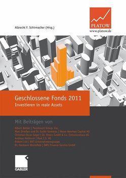 Geschlossene Fonds 2011 von Schirmacher,  Albrecht F.