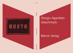 Geschmack von Agamben,  Giorgio, Hiepko,  Andreas