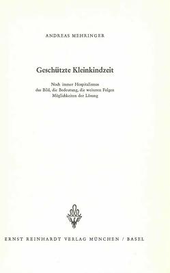 Geschützte Kleinkindzeit von Mehringer,  Andreas