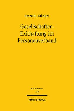 Gesellschafter-Exithaftung im Personenverband von Könen,  Daniel