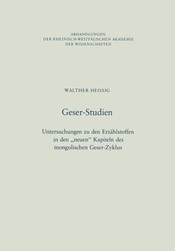 Geser-Studien von Heissig,  Walther