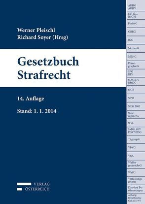 Gesetzbuch Strafrecht von Salzmann,  Harald, Soyer,  Richard