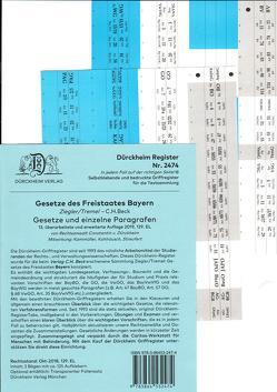 Gesetze des Freistaates Bayern / Dürckheim-Griffregister Nr. 2474 Ziegler-Tremel (2018) 125. EL von Dürckheim,  Constantin