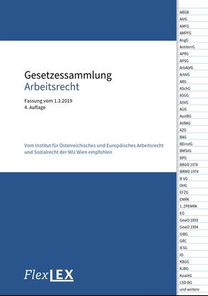 Gesetzessammlung Arbeitsrecht von Burger-Ehrnhofer,  Karin, Ludvik,  Christoph