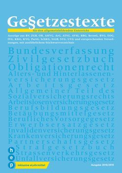 Gesetzestexte 2018/19 (Print inkl. eLehrmittel) von Haupt,  Men