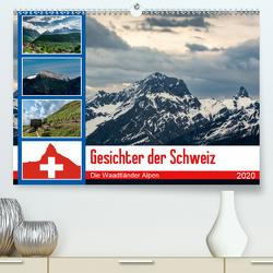 Gesichter der Schweiz – Die Waadtländer Alpen (Premium, hochwertiger DIN A2 Wandkalender 2020, Kunstdruck in Hochglanz) von Gaymard,  Alain