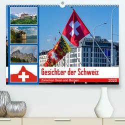 Gesichter der Schweiz, Zwischen Seen und Bergen (Premium, hochwertiger DIN A2 Wandkalender 2020, Kunstdruck in Hochglanz) von Gaymard,  Alain