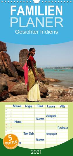 Gesichter Indiens – Familienplaner hoch (Wandkalender 2021 , 21 cm x 45 cm, hoch) von Rauchenwald,  Martin