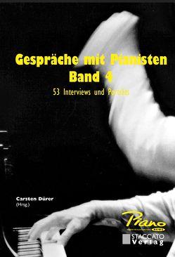 Gespräche mit Pianisten Band 4 von Carsten,  Dürer
