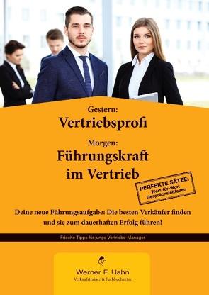 Gestern: Vertriebsprofi – Morgen: Führungskraft im Vertrieb von Hahn,  Werner F.