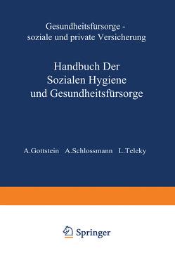Gesundheitsfürsorge Soƶiale und Private Versicherung von Gottstein,  A., Schlossmann,  A., Teleky,  L.