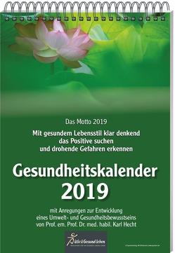 Gesundheitskalender 2019 von Hecht,  Karl