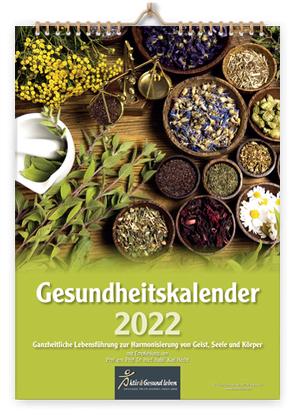 Gesundheitskalender 2022 von Prof. em. Prof. Dr. med. habil Hecht,  Karl