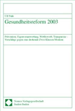 Gesundheitsreform 2003 von Fink,  Ulf