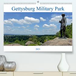 Gettysburg Military Park (Premium, hochwertiger DIN A2 Wandkalender 2021, Kunstdruck in Hochglanz) von Enders,  Borg