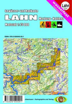 Gewässer- und Radkarte Lahn von Jübermann,  Erhard
