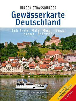 Gewässerkarte Deutschland Süd von Straßburger,  Jürgen