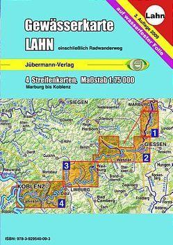 Gewässerkarte Lahn von Jübermann,  Erhard