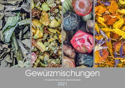 Gewürzmischungen – mit Geschmack durch das Küchenjahr (Wandkalender 2021 DIN A2 quer) von Vlcek,  Gerhard