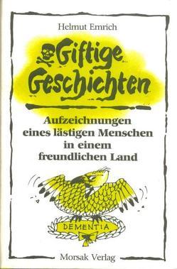 Giftige Geschichten von Emrich,  Helmut, Schütze,  Heinz G