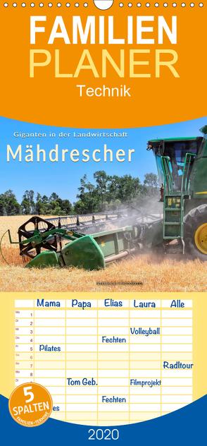 Giganten in der Landwirtschaft – Mähdrescher – Familienplaner hoch (Wandkalender 2020 , 21 cm x 45 cm, hoch) von Roder,  Peter