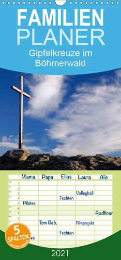 Gipfelkreuze im Böhmerwald – Familienplaner hoch (Wandkalender 2021 , 21 cm x 45 cm, hoch) von Eickhoff,  Markus