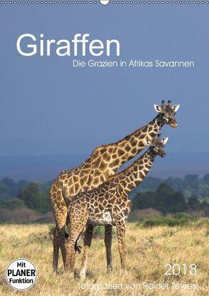 Giraffen – Die Grazien in Afrikas Savannen (Wandkalender 2018 DIN A2 hoch) von Tewes,  Rainer