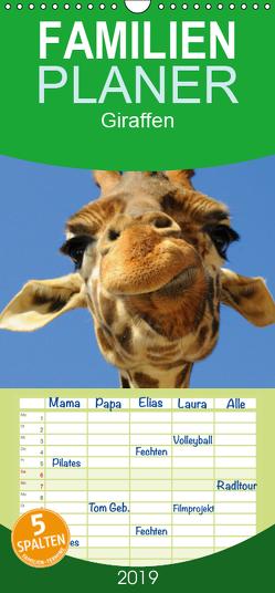 Giraffen – Familienplaner hoch (Wandkalender 2019 , 21 cm x 45 cm, hoch) von Stanzer,  Elisabeth