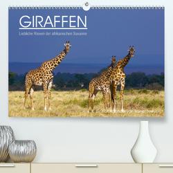 GIRAFFEN – Liebliche Riesen der afrikanischen Savanne (Premium, hochwertiger DIN A2 Wandkalender 2021, Kunstdruck in Hochglanz) von Tewes,  Rainer