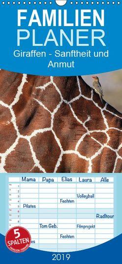 Giraffen – Sanftheit und Anmut – Familienplaner hoch (Wandkalender 2019 , 21 cm x 45 cm, hoch) von Herzog,  Michael