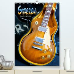 Gitarren backstage (Premium, hochwertiger DIN A2 Wandkalender 2020, Kunstdruck in Hochglanz) von Bleicher,  Renate