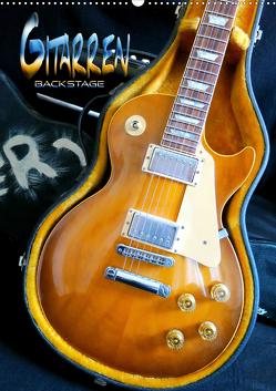 Gitarren backstage (Wandkalender 2020 DIN A2 hoch) von Bleicher,  Renate