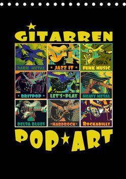 Gitarren Pop Art (Tischkalender 2019 DIN A5 hoch) von Bleicher,  Renate