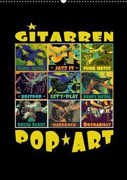 Gitarren Pop Art (Wandkalender 2019 DIN A2 hoch) von Bleicher,  Renate