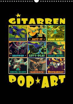 Gitarren Pop Art (Wandkalender 2019 DIN A3 hoch) von Bleicher,  Renate