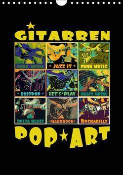 Gitarren Pop Art (Wandkalender 2019 DIN A4 hoch) von Bleicher,  Renate
