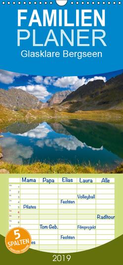 Glasklare Bergseen – Familienplaner hoch (Wandkalender 2019 , 21 cm x 45 cm, hoch) von Kramer,  Christa