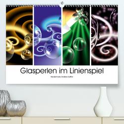 Glasperlen im Linienspiel (Premium, hochwertiger DIN A2 Wandkalender 2020, Kunstdruck in Hochglanz) von Sattler,  Heidemarie