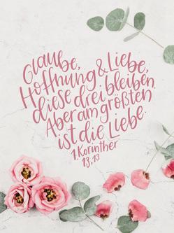 Glaube, Hoffnung, Liebe – Wand- und Standbild