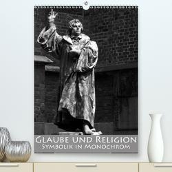 Glaube und Religion – Symbolik in monochrom (Premium, hochwertiger DIN A2 Wandkalender 2021, Kunstdruck in Hochglanz) von happyroger