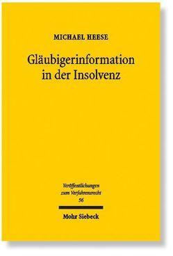 Gläubigerinformation in der Insolvenz von Heese,  Michael
