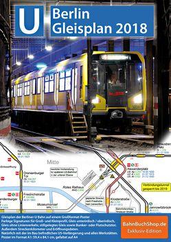 Gleisplan U-Bahn Berlin 2018 von Stade,  Christian