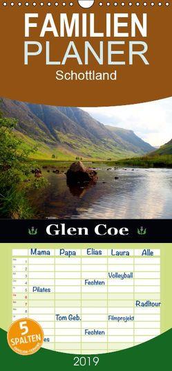 Glen Coe – Familienplaner hoch (Wandkalender 2019 , 21 cm x 45 cm, hoch) von Schwarz,  Sylvia