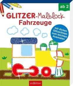 Glitzer-Malblock Fahrzeuge von Schmidt,  Sandra