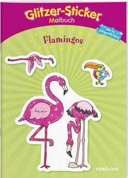 Glitzer-Sticker-Malbuch. Flamingos von Schmidt,  Sandra, Tessloff Verlag