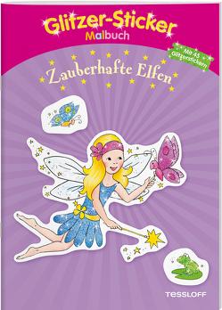 Glitzer-Sticker-Malbuch. Zauberhafte Elfen von Beurenmeister,  Corina, Tessloff Verlag