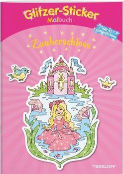 Glitzer-Sticker-Malbuch. Zauberschloss von Beurenmeister,  Corina