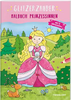 Glitzerzauber Malbuch. Prinzessinnen von Schmidt,  Sandra